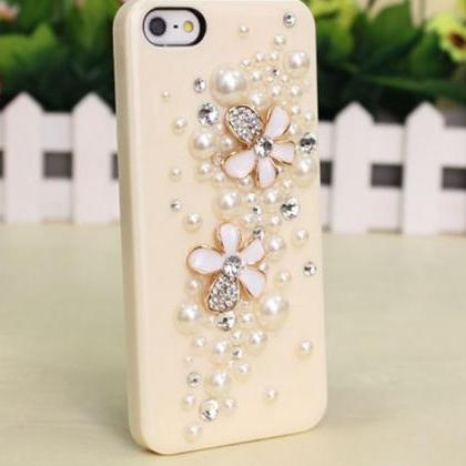 Pearl flowers Hard Back Mobile phon..