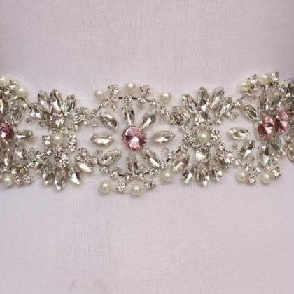 Fashion Bling Bridal Sash pearl And..