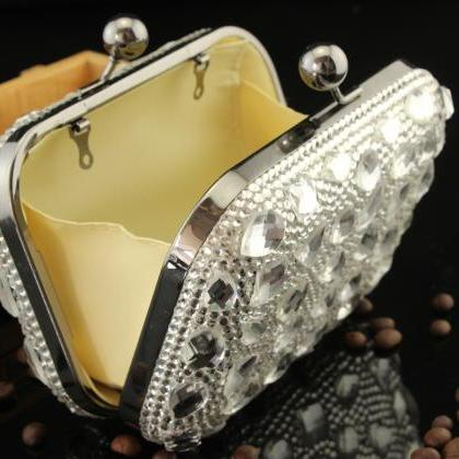 Rhinestone crystal clutch luxury di..