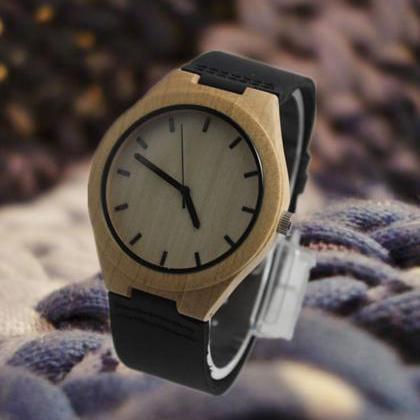 Wooden bamboo watch the latest fash..