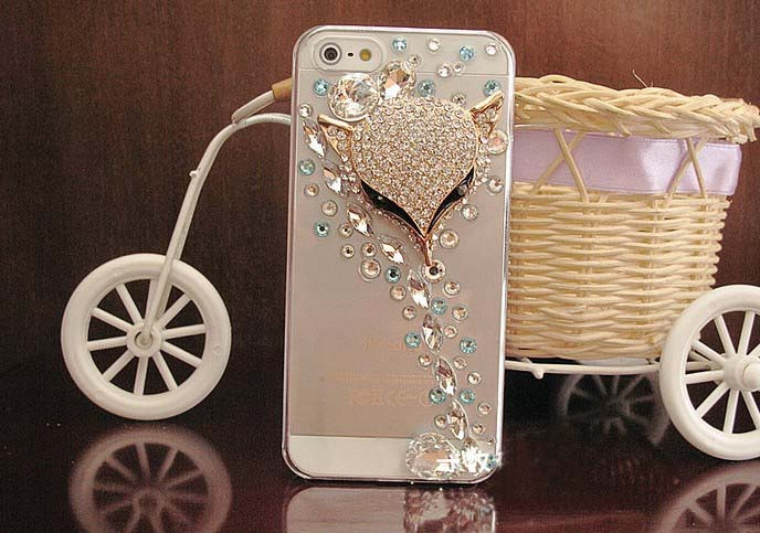 more photos 6b1eb ed63b New Fox Diamond Hard Back Mobile Phone Case Cover Rhinestone Case Cover For  Iphone 6s Case,iphone 6s Plus Case,iphone 6c Case,iphone ...
