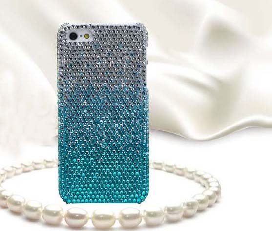 Fresh And Blue And White Diamond Hard Back Mobile Phone ...