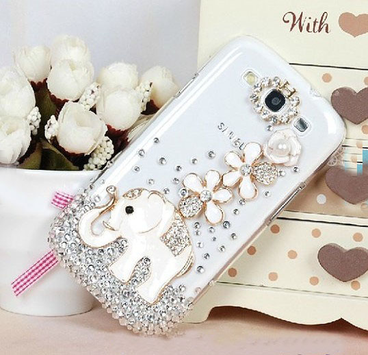 low priced 8d447 da2b1 NEW Elephant Flowers Diamond Hard Back Hard Back Mobile Phone Case Cover  White Rhinestone Case Cover For Iphone 6s Plus Case,iphone 6c Case,samsung  ...