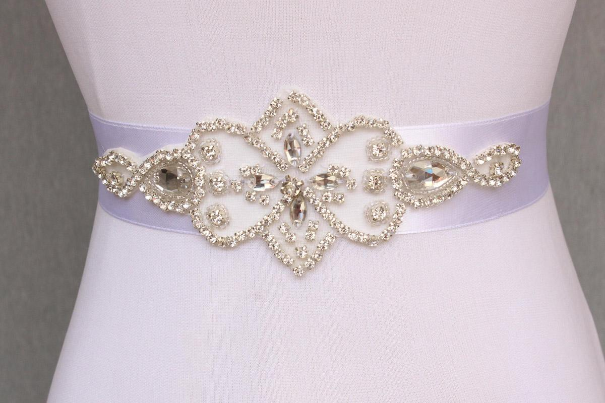 Simple Bridal Sash Handmade Crystals Beads Exquisite White Wedding Accessories Bride Belt Sash
