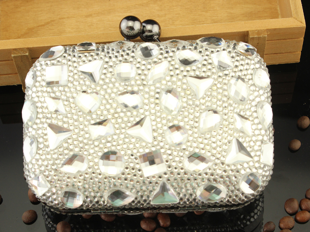 Rhinestone crystal clutch luxury diamond evening wallet bags discount handbags bridal bag fashion wedding party bags