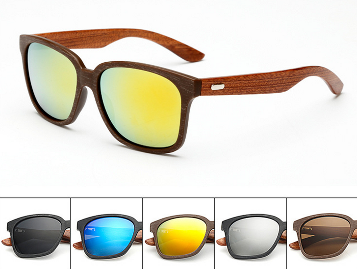 Classic coating sunglasses chauffeur-driven fishing glasses bamboo leg sunglasses UV400
