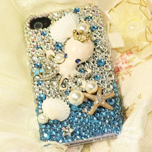 6c 6s plus Beach starfish shell Hard Back Mobile phone Case Cover luxury Rhinestone Case Cover for iPhone 4 4s 5 7plus 5s 6 6 plus Samsung galaxy s7 s4 s5 s6 note8.0 4