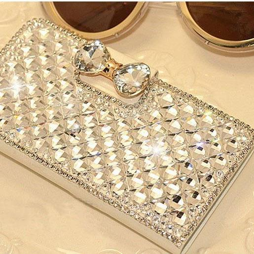 6c 6s plus NEW bow-knot diamond leather Hard Back Mobile phone Case Cover bling Rhinestone Case Cover for iPhone 4 4s 5 7plus 5s 6 6 plus Samsung galaxy s7 s4 s5 s6 note10 4