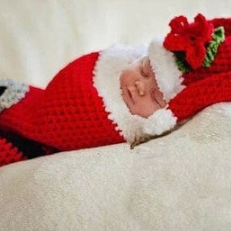 Christmas two - piece Hand knitted wool clothes photo prop one hundred days newborn baby photography baby clothes joker pictures clothes