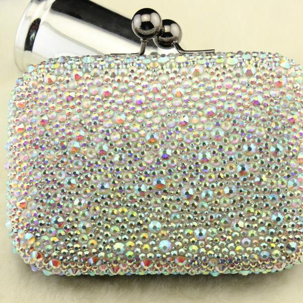 New arrival luxury diamond evening wallet bags handbags rhinestone crystal clutch bridal bag fashion wedding party bags